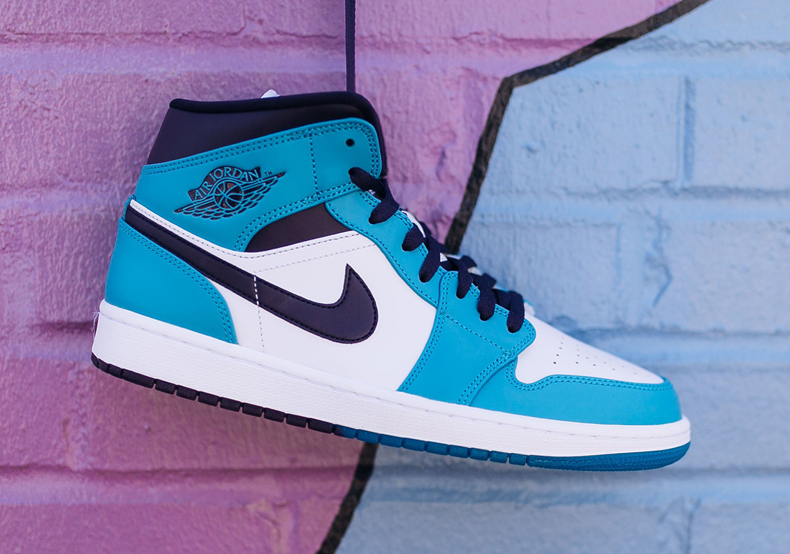 27769cd98fda The Air Jordan 1 Mid Drops in Charlotte Hornets Colors