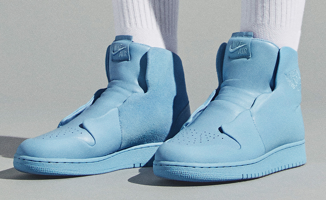 "separation shoes ebf9a f1b6b Air Jordan 1 ""Sage"" Release Date  April 6th, 2018  160. Color  Light  Blue Light Blue Style Code  AO1526-400. Nike Air Force ..."