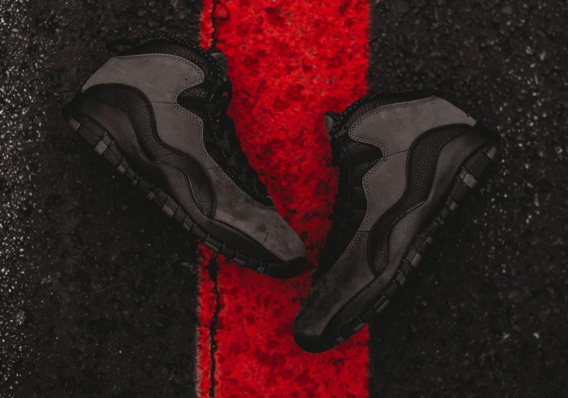 "173177dde3b055 Detailed Look At The Air Jordan 10 ""Dark Shadow"". March 30"