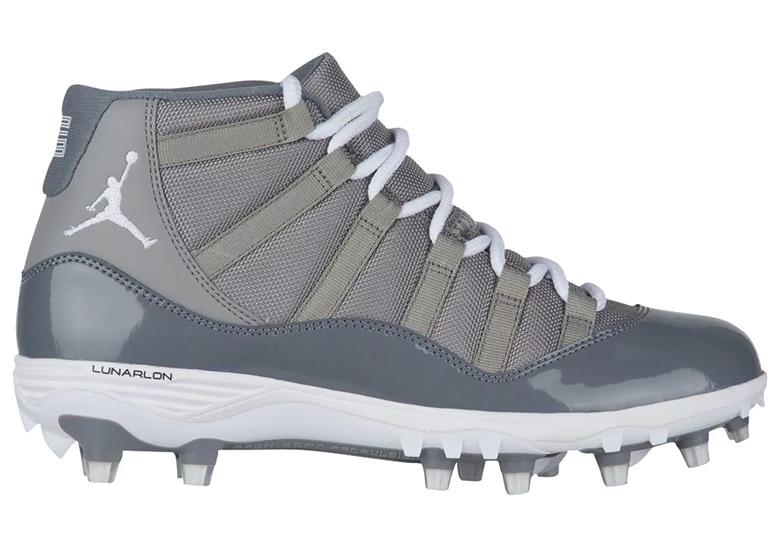 "062031180c8eec Air Jordan 11 TD Cleat ""Cool Grey"" Release Date  March 20"