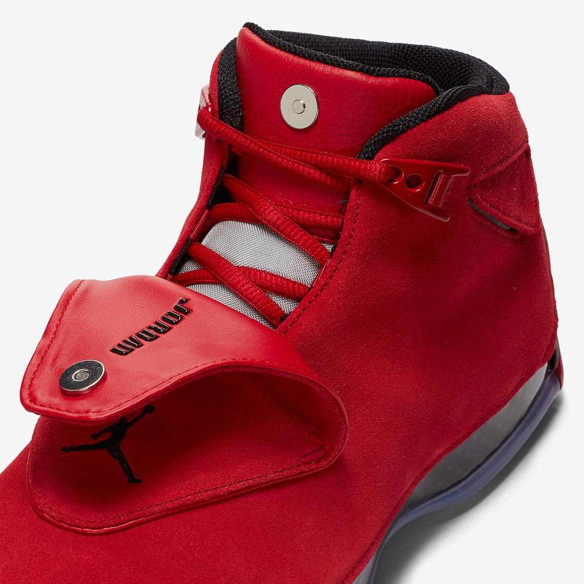 Air Jordan 18 De Gimnasia Negro Rojo fq0J3VUml