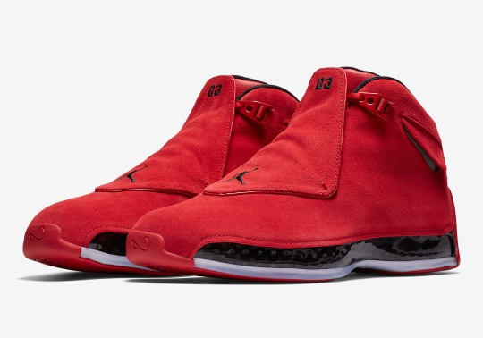 """Official Images Of The Air Jordan 18 """"Red Suede"""""""