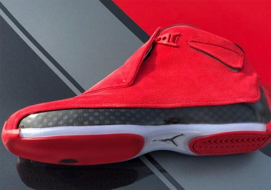"""Closer Look At The Air Jordan 18 Retro """"Red Suede"""""""