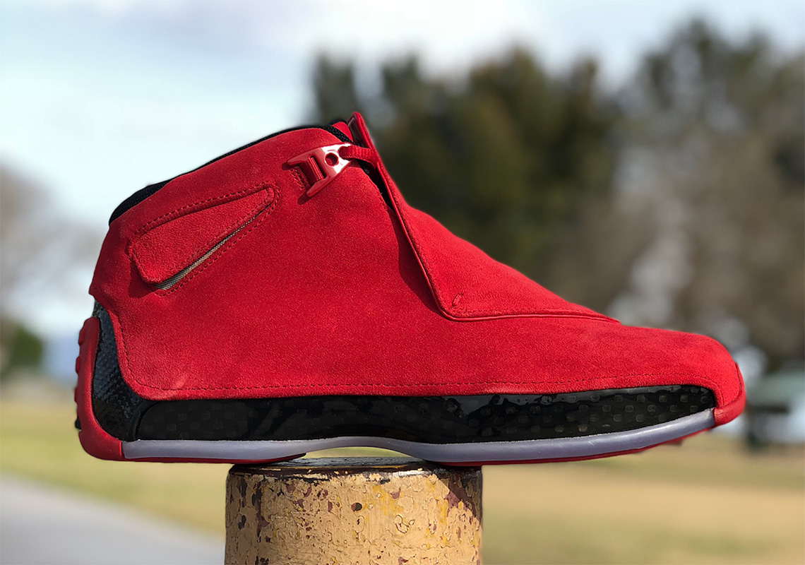 Air Jordan 18. Release Date: April 2018 $225. Color: Gym Red/Black