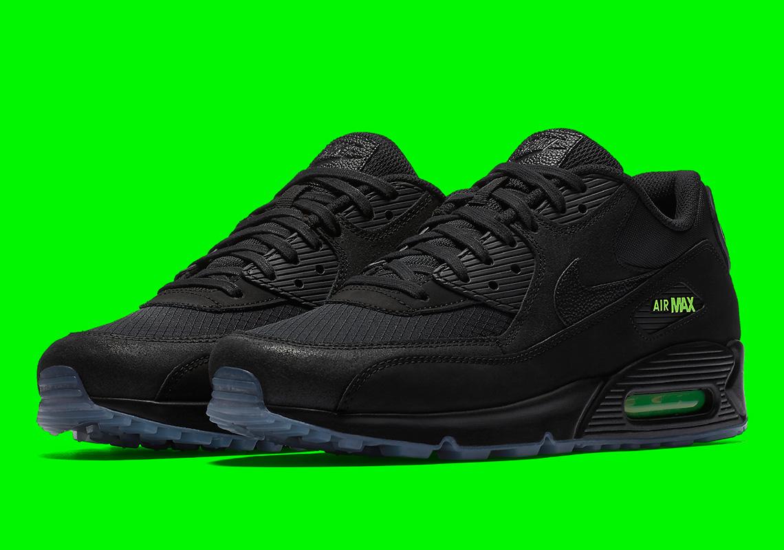 """Nike Air Max 90 """"Black/Volt"""" AQ6101-001 Release Info ..."""