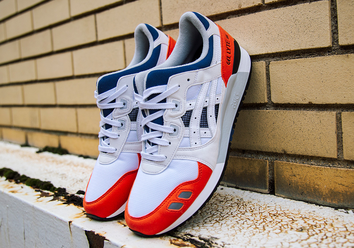 authorized site most popular sells ASICS GEL-Lyte III Red/White/Blue Available Now ...