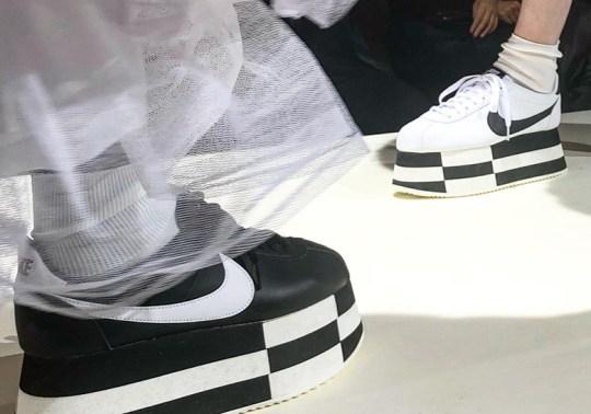 COMME des Garcons Made Nike Cortez Platform Shoes
