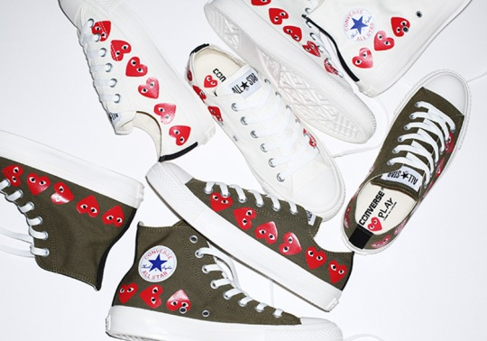 COMME des Garcons PLAY And Converse To Release New Style Of Their Popular Collaboration
