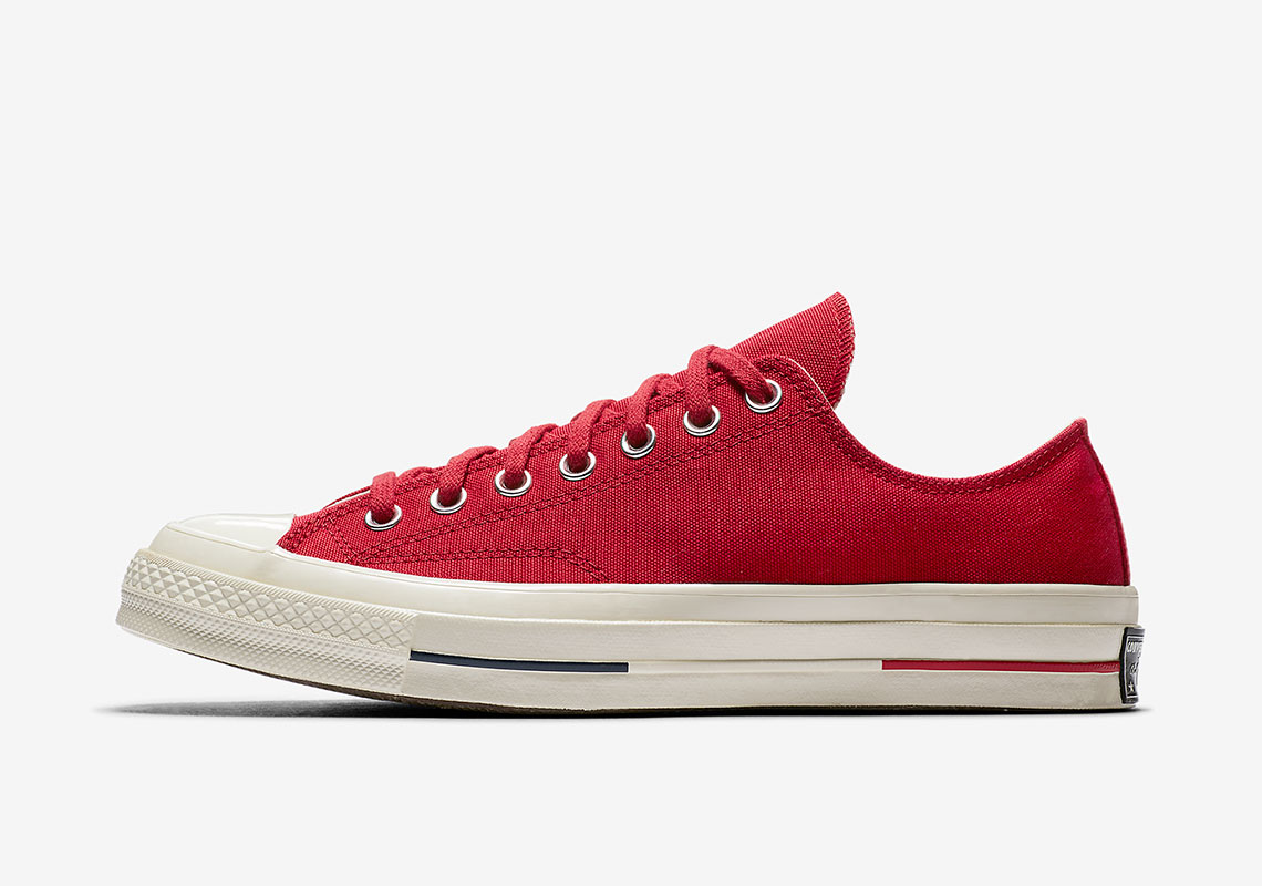 d7df2b0af25 Converse Chuck 70 Heritage Court Low Top AVAILABLE AT Nike  80. Color  Gym  Red