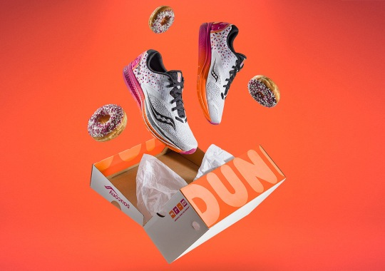 Boston-Based Saucony Collaborates With Dunkin' Donuts For The Kinvara 9