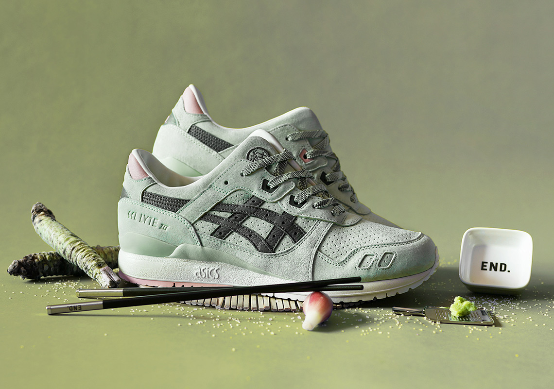8920e8dc5c3a END And ASICS Create A Wasabi-Inspired GEL-Lyte III Collaboration