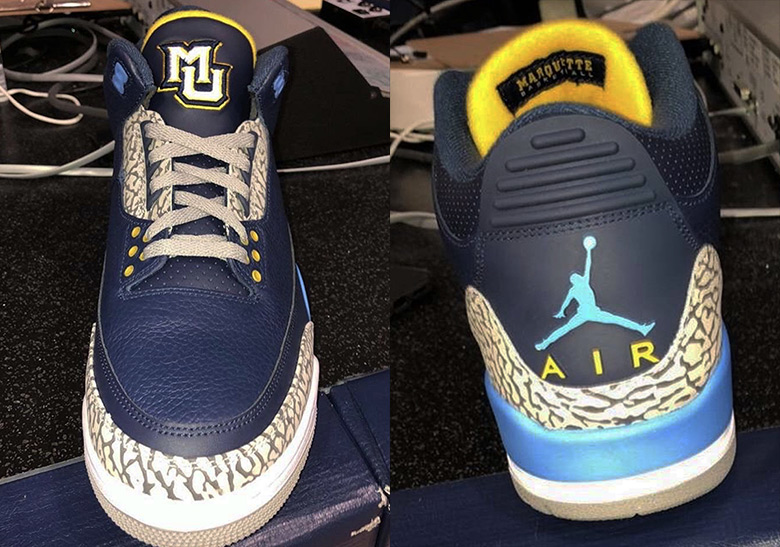 best sneakers 58039 87db0 Air Jordan 3 Marquette University PE   SneakerNews.com