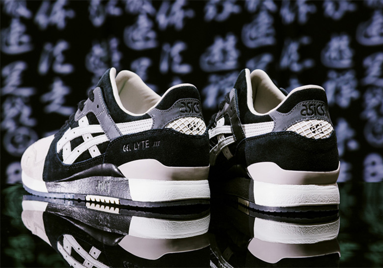 "ASICS GEL-Lyte III ""KL-SHINOBI"" Release Date: March 31, 2018. AVAILABLE  SOON AT Sneakersnstuff $129. Color: Black/Cool Grey"