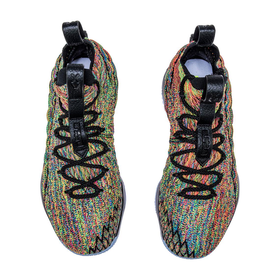 4c660887903c7d Nike LeBron 15 Multi-Color Black Fruity Pebbles 897648-901
