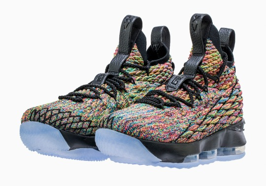 "Nike LeBron 15 ""Multi-Color"" Is Releasing Next Month In A Black Trim"