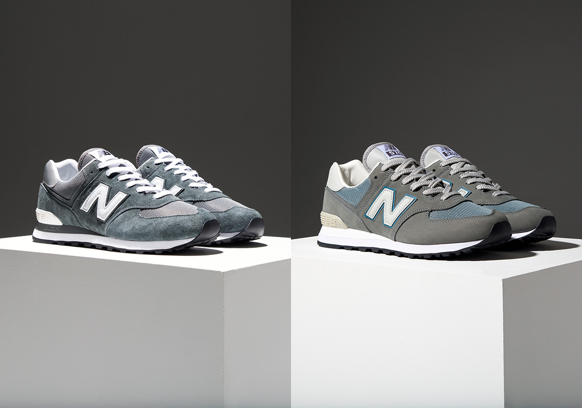 detailing release info on on feet at New Balance 574 Legacy Of Grey Pack Release Info ...