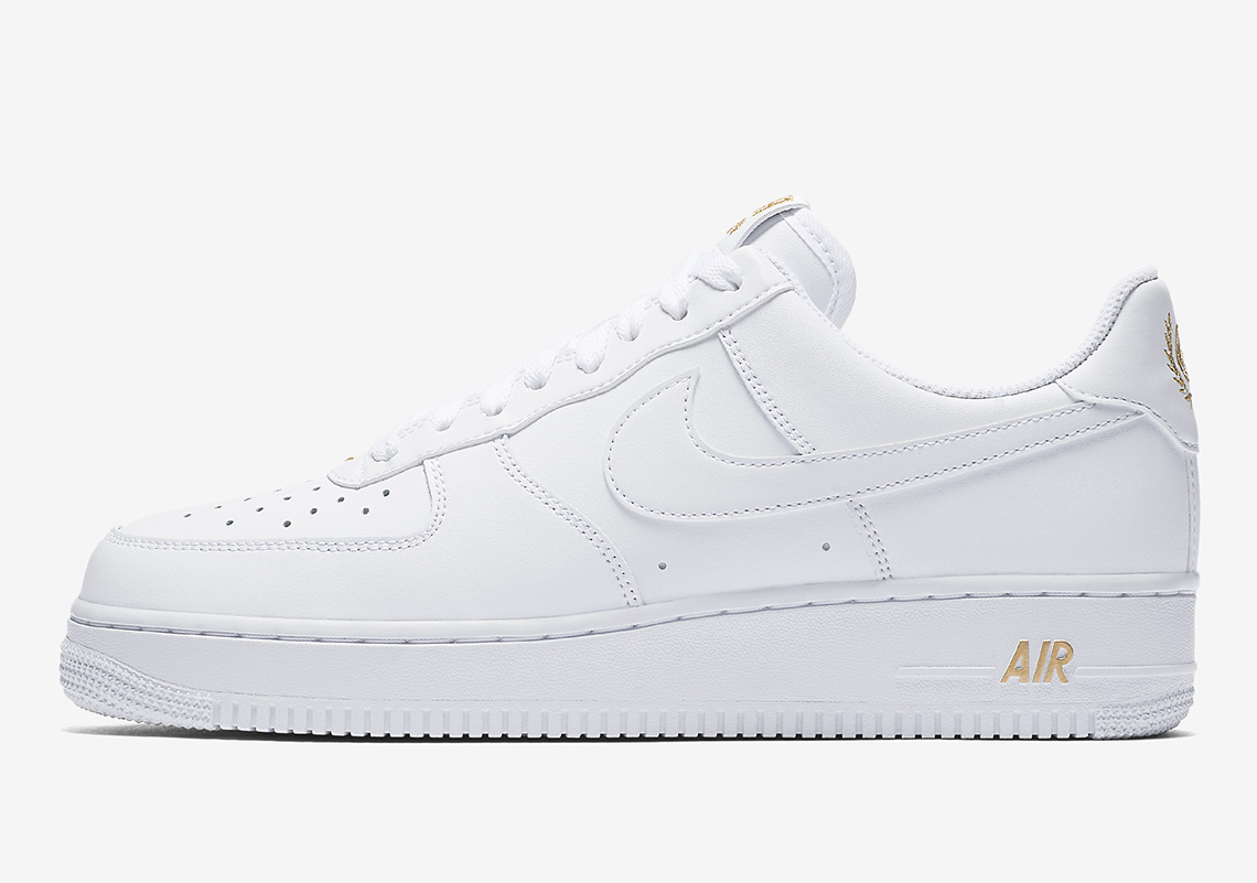 more photos 6659d 95994 nike air force 1 ones 1998 low white white gold leaf
