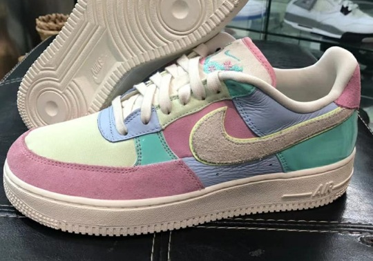 "The Upcoming Nike Air Force 1 ""Easter"" Blends Patent Leather And Suede"