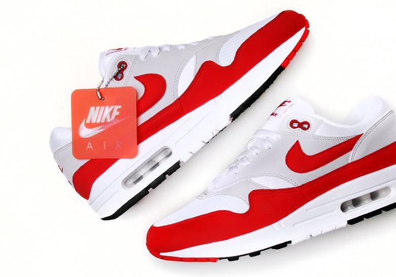 38045f6ef3 Nike Air Max 1 Anniversary Red White Restock Info   SneakerNews.com