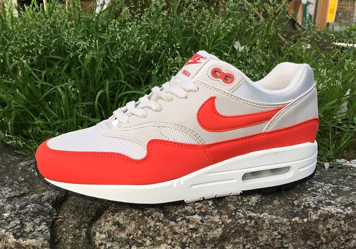 "Nike Keeps It Almost OG With The Air Max 1 ""Habanero Red"" 23c152e09d"