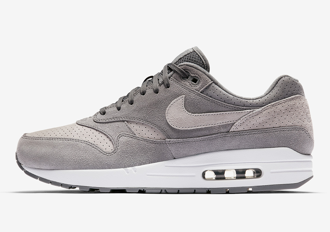 """sale retailer c3a13 14dfd Nike Air Max 1 Premium """"Grey Perf"""" Is Available"""