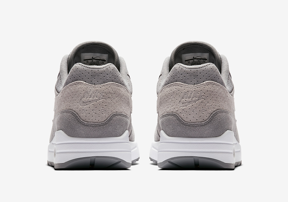 """Nike Air Max 1 Premium """"Grey Perf"""" Is Available Viral Cypher"""