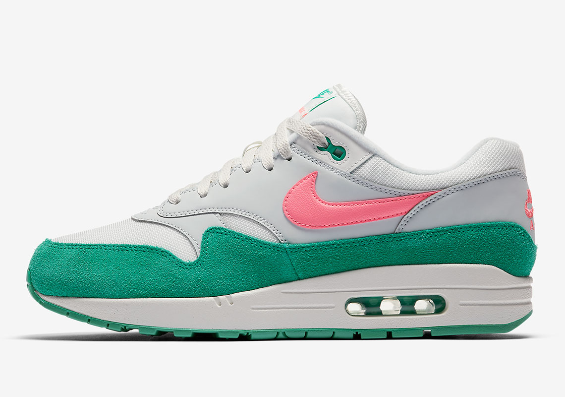 NIKE AIR MAX 1 WATERMELON SOUTH BEACH MIAMI GREEN PINK