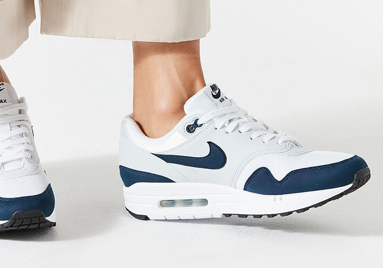 85d0458a38f47 Nike Air Max 1. AVAILABLE AT SNS AVAILABLE AT Urban Outfitters  110. Color   White Obsidian Pure Platinum Style Code  319986-104