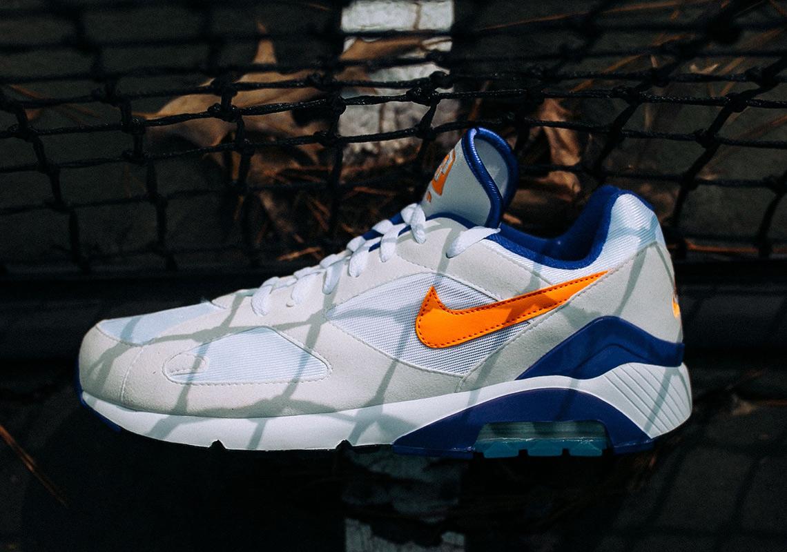 Nike Air Max 180. Release Date: March 15, 2018 $130. Color: White/Bright  Ceramic-Dark Concord Style Code: 615287-101