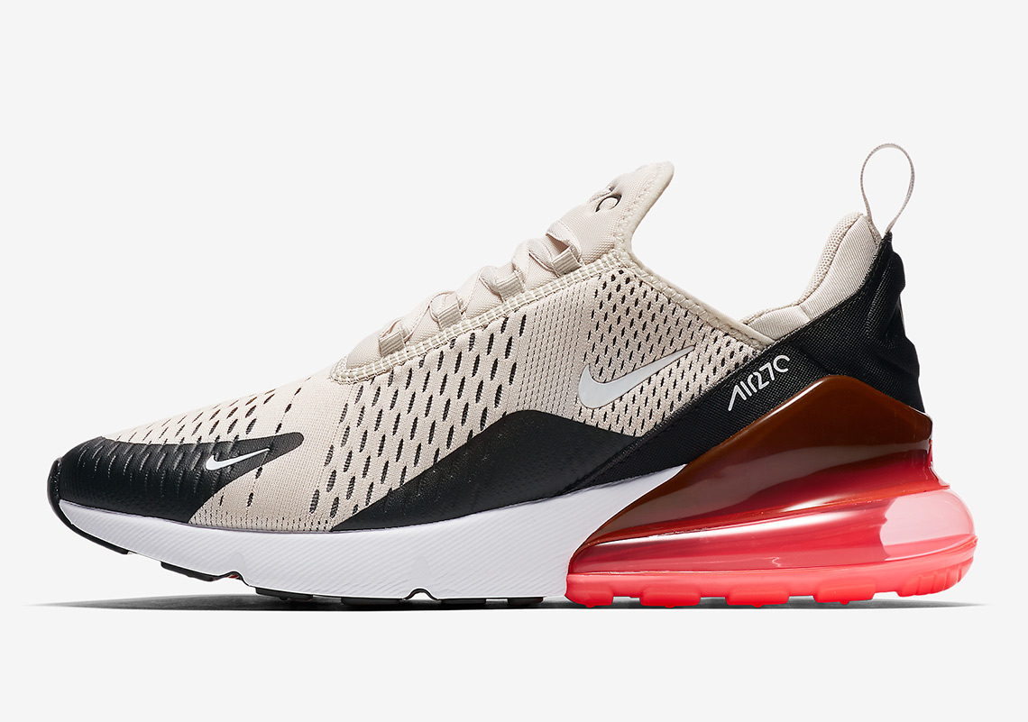 the latest 2b0dc 66619 Nike Air Max 270. AVAILABLE AT Nike  150. Color  Black Hot  Punch White Light Bone