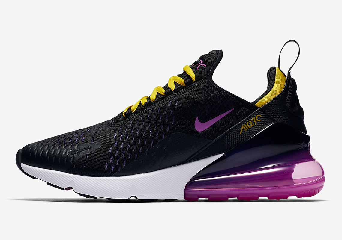 check out 4e53b 27ae8 Nike Air Max 270. AVAILABLE AT Nike  150. Color  Black Hyper Grape Tour  Yellow Hyper Magenta