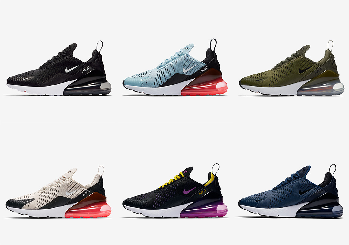 quality design a05ad 9ed10 Nike Air Max 270 Six Colorways Available Now   SneakerNews.com