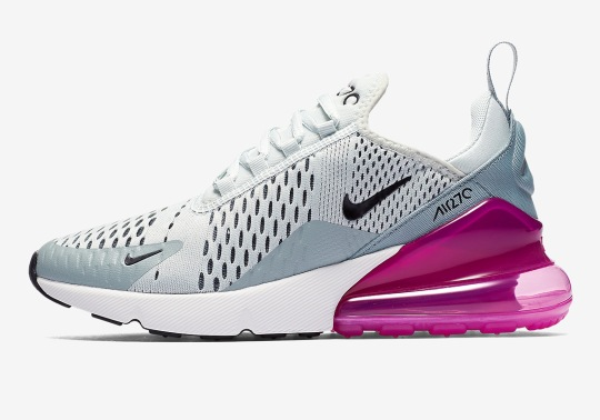 Bright Fuchsia Bubbles Appear On This Women's Nike Air Max 270