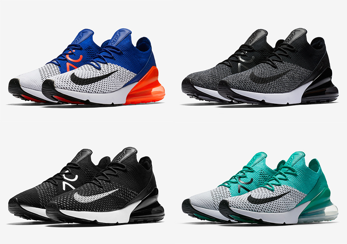 sale retailer a88d7 3629d The Nike Air Max 270 Flyknit Releases Next Week In Four Colorways