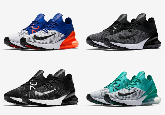 The Nike Air Max 270 Flyknit Releases Next Week In Four Colorways