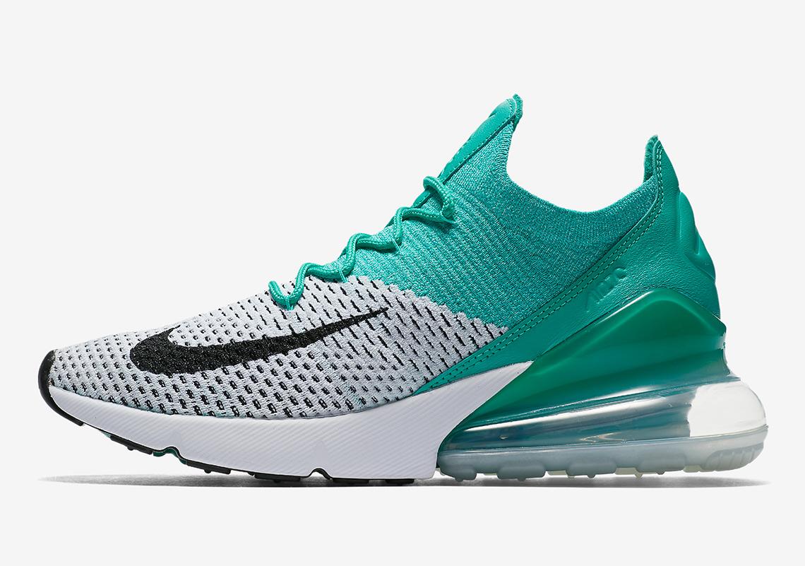 Aqua Colored Nike Shoes