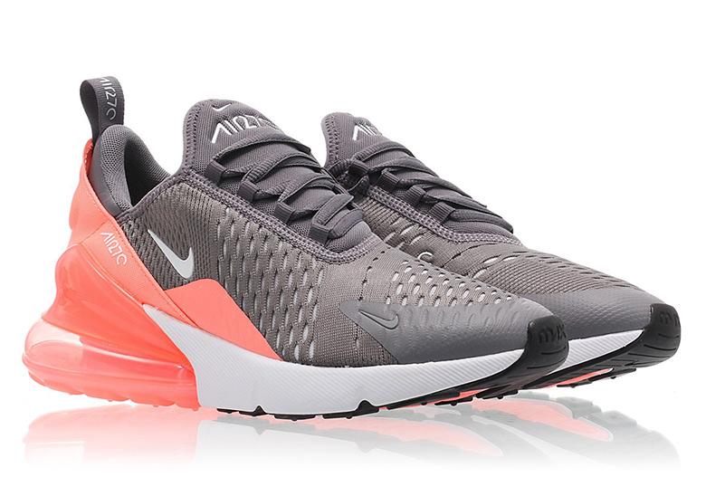 3c063dbb379e Nike Air Max 270. Color  Gunsmoke White-Lt Atomic Pink