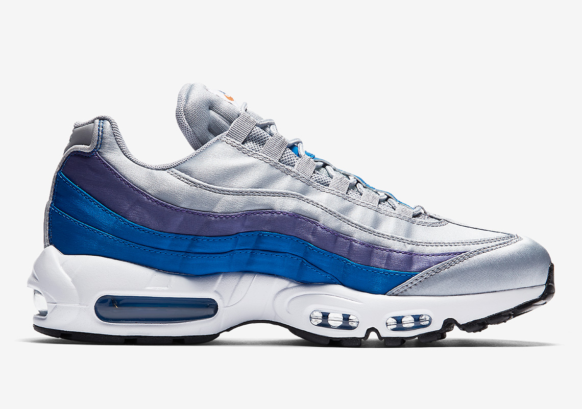 Nike Air Max 95  160. Color  Wolf Grey Blue Nebula Purple Slate White Style  Code  AJ2018-001 4b7ae34075