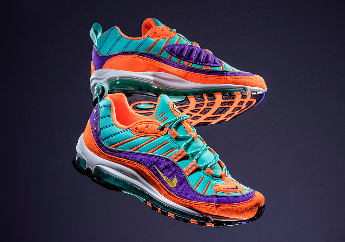 a51f9b896580 Nike Air Max 98 Cone Tour Yellow Hyper Grape U.S. Release Info ...
