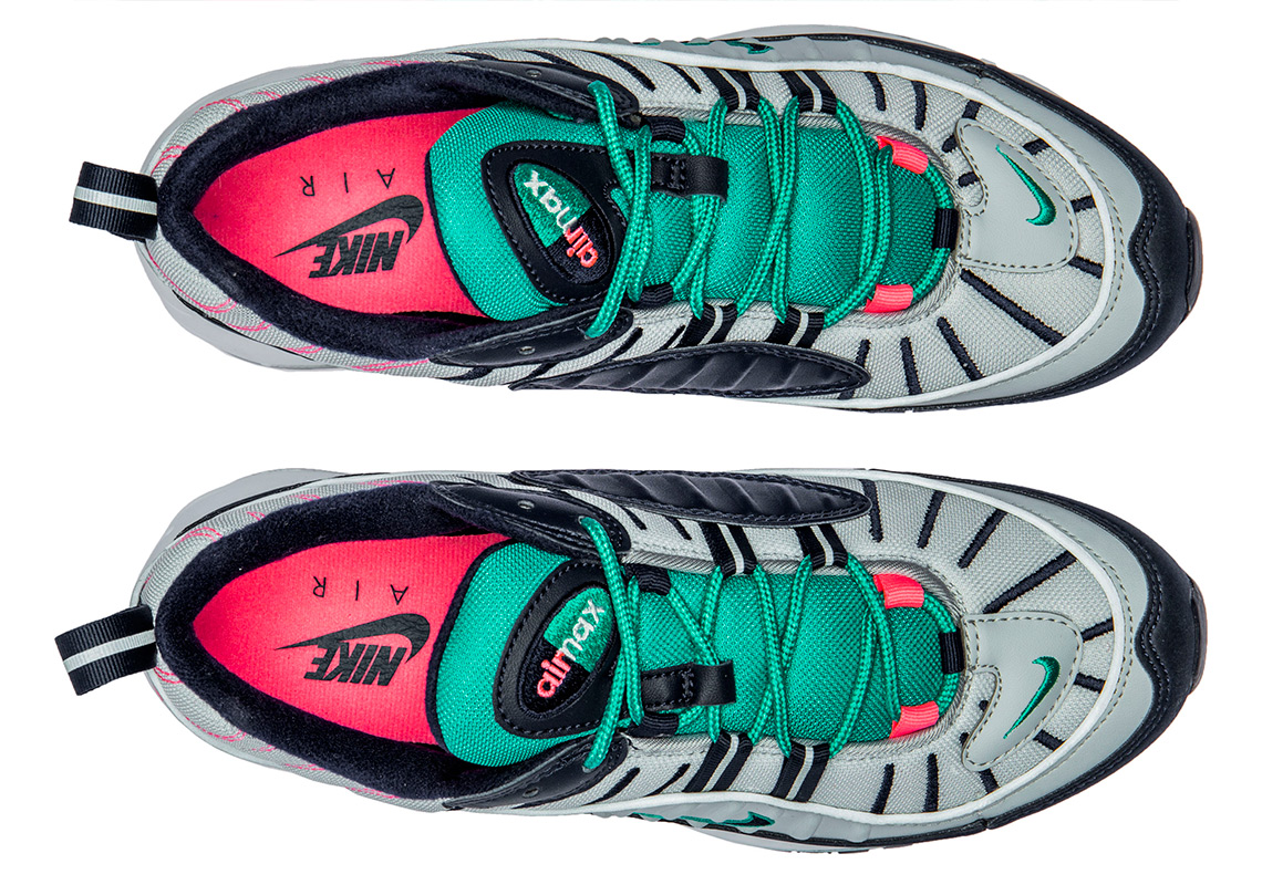 6c17bd96a7 Nike Air Max 98. Release Date: April 5th, 2018. Color: Pure Platinum/ Obsidian/Kinetic Green Style Code: 640744-005. Advertisement. Advertisement