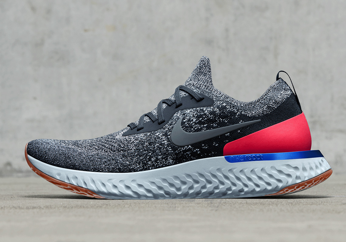 Nike Epic React Flyknit Coming Soon To Nike  150. Color  Black White-Hyper  Crimson-White 30ded3ea581c