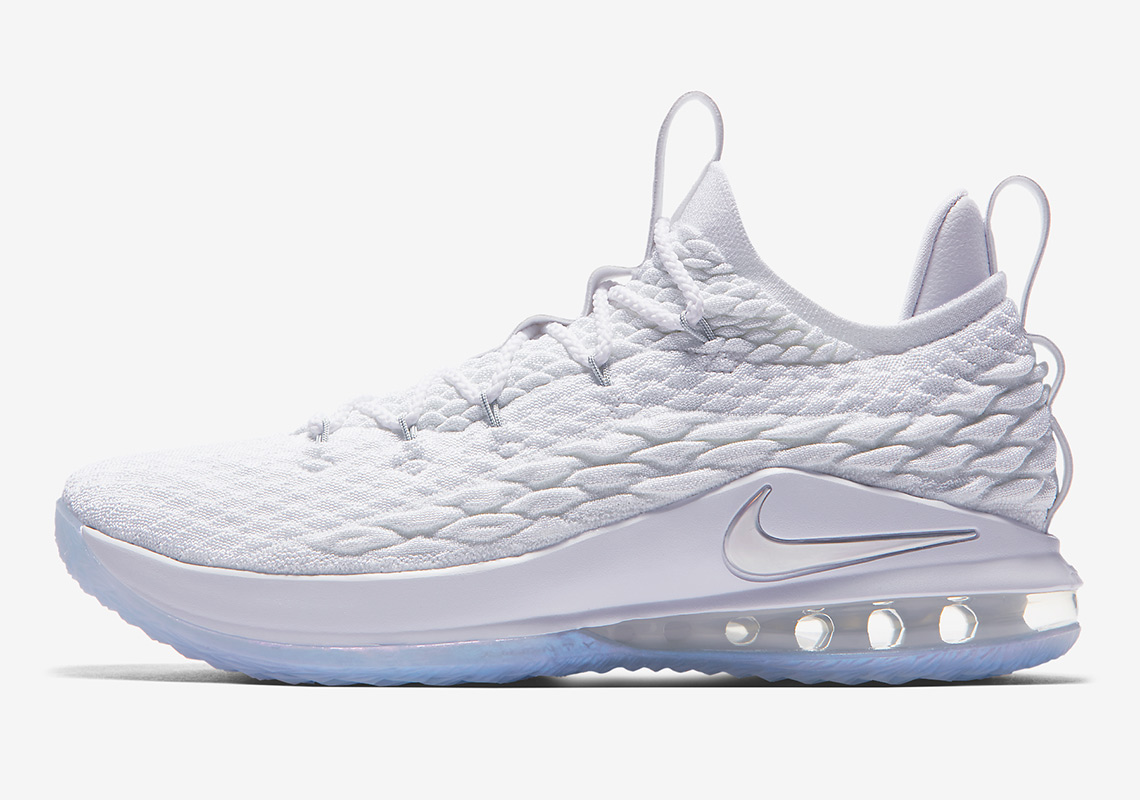 premium selection e6e8d b1941 A Clean White Nike LeBron 15 Low Is Dropping This Weekend