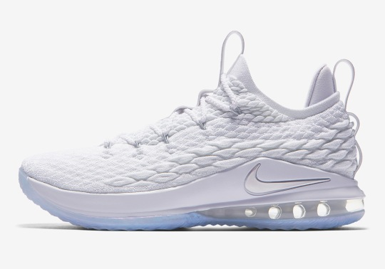 A Clean White Nike LeBron 15 Low Is Dropping This Weekend