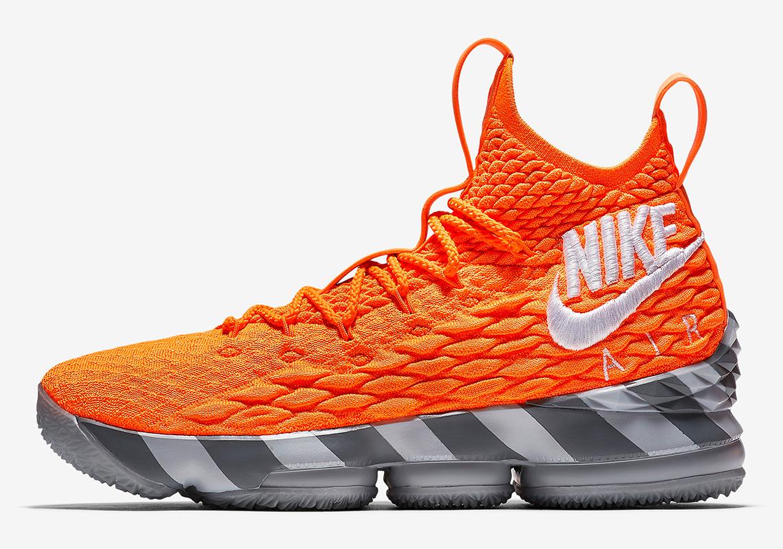 938a3d4dc7e Nike LeBron 15  LeBronWatch Orange Grey Shoebox