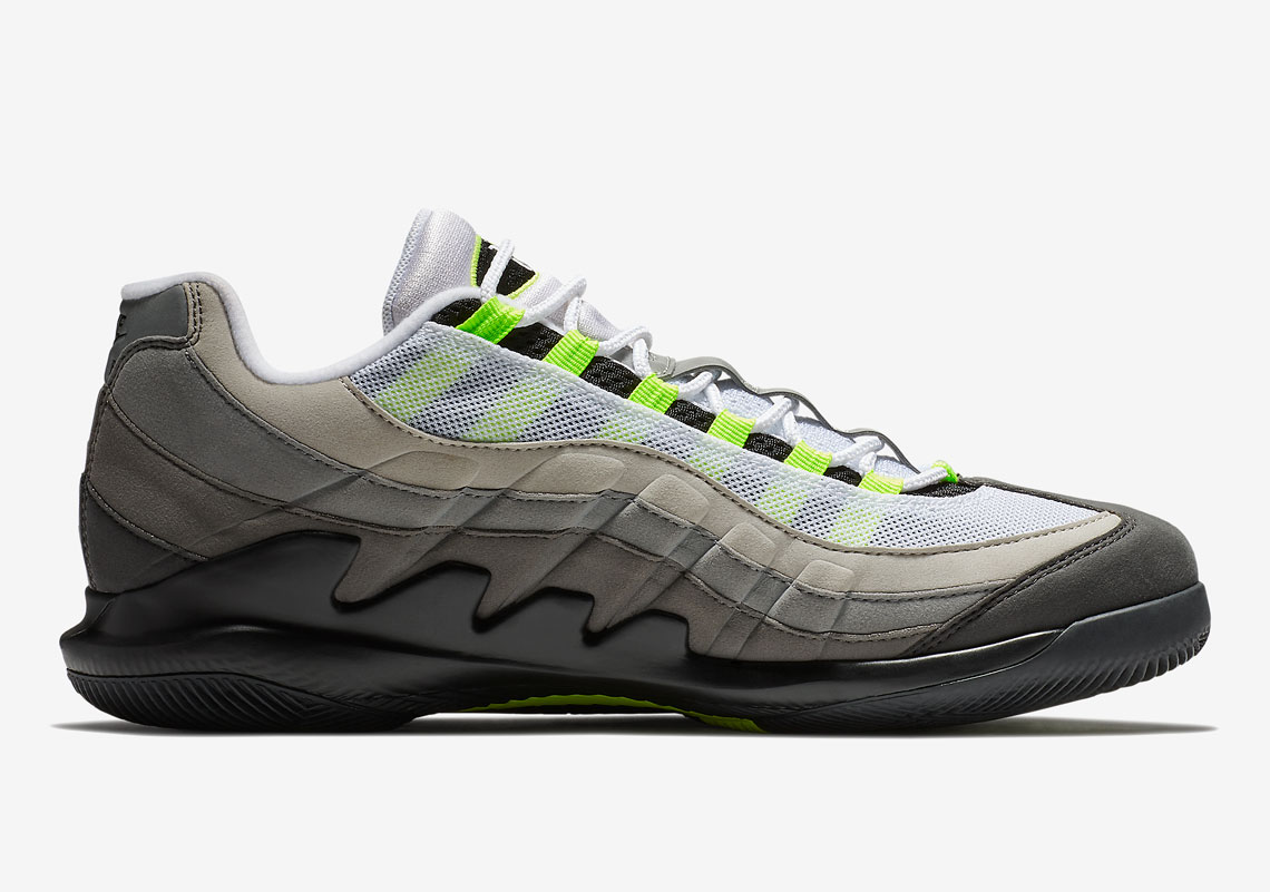 ab408bf88b Advertisement. NikeCourt Vapor RF x Air Max 95. Release Date: March ...
