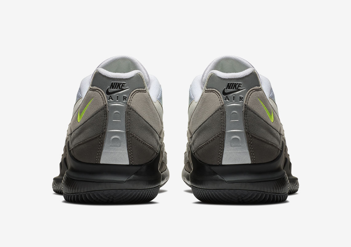 NikeCourt Vapor RF x Air Max 95. Release Date: March 9, 2018