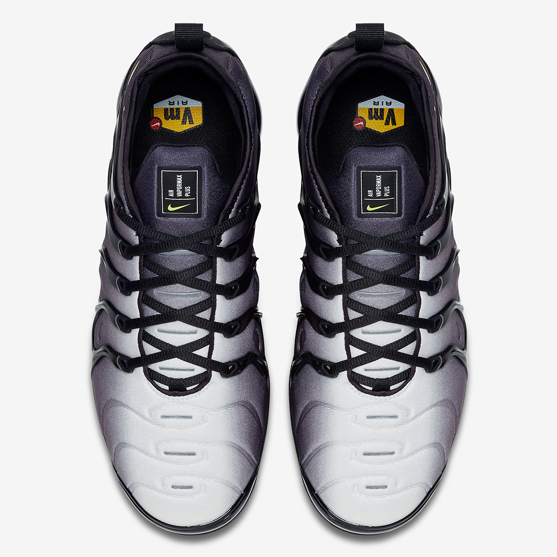 the latest 5f6aa b52f0 Nike VaporMax Plus Release Date April 6, 2018 190. Color BlackVolt-White