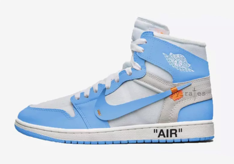 """3940d085e086 OFF WHITE x Air Jordan 1 """"Dark Powder Blue"""" Is Rumored To Release In May"""