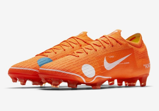 Virgil Abloh's OFF WHITE Designs Special Colorway Of The Nike Vapor 12 Elite Soccer Cleat