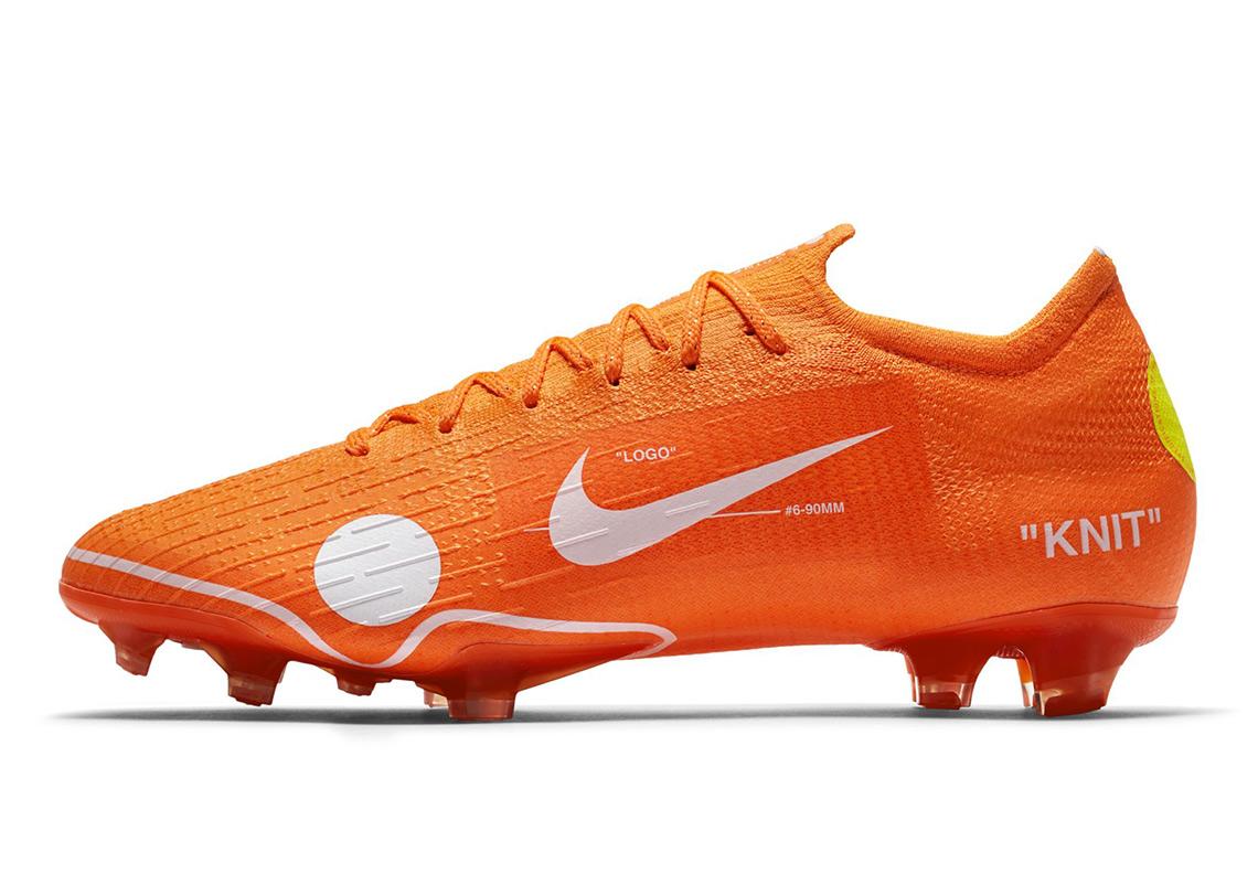 Virgil Abloh Off White Nike Vapor 12 Elite Se Fg Orange